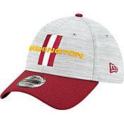 New Era Men's Washington Football Team Grey Sideline 2021 Training Camp 39Thirty Stretch Fit Hat
