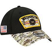 New Era Men's Washington Football Team Salute to Service 39Thirty Black Stretch Fit Hat
