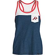 New Era Women's Atlanta Braves Navy Tri-Blend Tank Top
