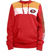 New Era Women's San Francisco 49ers Fleece Red Pullover Hoodie