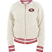 New Era Women's San Francisco 49ers Sherpa White Full-Zip Jacket