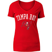 New Era Women's Tampa Bay Buccaneers Red V-Neck T-Shirt