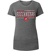New Era Women's Tampa Bay Buccaneers Grey Tri-Blend Scoop Neck T-Shirt