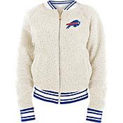 New Era Women's Buffalo Bills Sherpa White Full-Zip Jacket