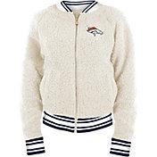 New Era Women's Denver Broncos Sherpa White Full-Zip Jacket