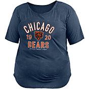 New Era Women's Chicago Bears Mineral Navy Plus Size T-Shirt