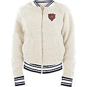 New Era Women's Chicago Bears Sherpa White Full-Zip Jacket