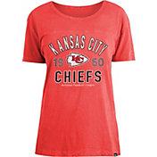 New Era Women's Kansas City Chiefs Red Mineral Wash T-Shirt