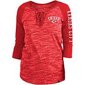 New Era Women's Kansas City Chiefs Space Dye Lace Red Raglan Shirt
