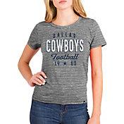 New Era Women's Dallas Cowboys Space Dye Grey T-Shirt