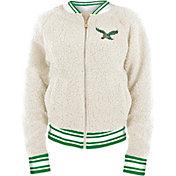 New Era Women's Philadelphia Eagles Sherpa White Full-Zip Jacket