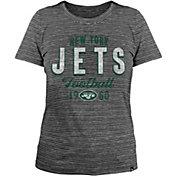 New Era Women's New York Jets Space Dye Black T-Shirt
