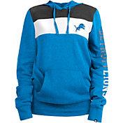 New Era Women's Detroit Lions Fleece Blue Pullover Hoodie