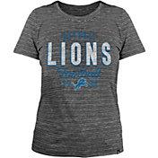 New Era Women's Detroit Lions Space Dye Black T-Shirt