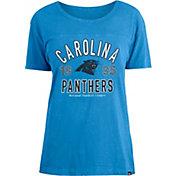 New Era Women's Carolina Panthers Blue Mineral Wash T-Shirt
