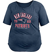 New Era Women's New England Patriots Mineral Navy Plus Size T-Shirt