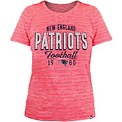 New Era Women's New England Patriots Space Dye Red T-Shirt