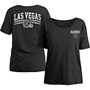 New Era Women's Las Vegas Raiders Relaxed Back Black T-Shirt
