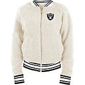 New Era Women's Las Vegas Raiders Sherpa White Full-Zip Jacket