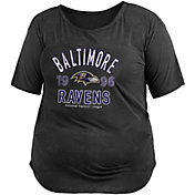 New Era Women's Baltimore Ravens Mineral Black Plus Size T-Shirt