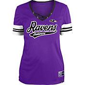 New Era Women's Baltimore Ravens Purple Lace-Up V-Neck T-Shirt
