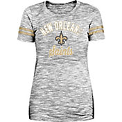New Era Women's New Orleans Saints Space Dye Glitter Black T-Shirt
