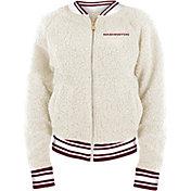 New Era Women's Washington Football Team Sherpa White Full-Zip Jacket