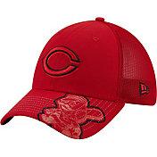New Era Youth Cincinnati Reds Black 39Thirty Stretch Fit Hat