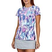 Sofibella Women's UV Feather Short Sleeve Shirt