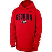 Nike Youth Georgia Bulldogs Red Club Fleece Pullover Hoodie