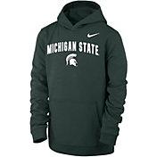 Nike Youth Michigan State Spartans Green Club Fleece Wordmark Pullover Hoodie