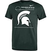 Jordan Youth Michigan State Spartans Green Dri-FIT Legend T-Shirt