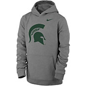 Nike Youth Michigan State Spartans Grey Club Fleece Pullover Hoodie
