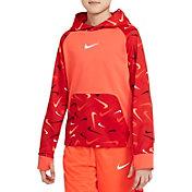 Nike Boys' Therma-FIT Fleece Swooshfetti Training Hoodie