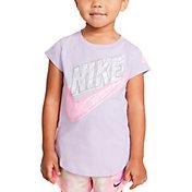 Nike Toddler Girls' Sidewalk Chalk Logo Graphic T-Shirt