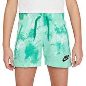 Nike Girls' Sportswear Club Fleece Run Wild Print Shorts