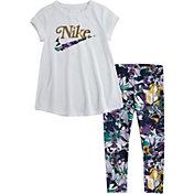 Nike Little Girls' Studio Floral Tunic and Leggings Set