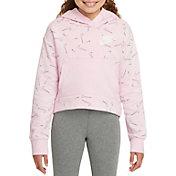 Nike Girls' Sportswear Swooshfetti Club Fleece Hoodie