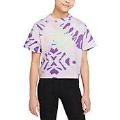 Nike Girls' Sportswear Tie Dye Boxy T-Shirt