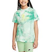 Nike Girls' Sportswear Tie Dye Graphic T-Shirt