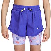 Nike Girls' Dri-FIT Tempo 2-in-1 Mongram Running Shorts