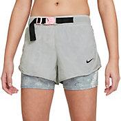 Nike Girls' Tempo Tie-Dye 2-in-1 Running Shorts