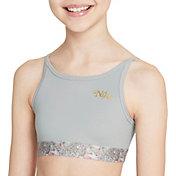 Nike Girls' Dri-FIT Trophy Studio Floral Low Support Sports Bra
