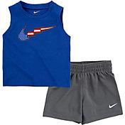 Nike Infant Boys' American Flag Swoosh Tank Top and Shorts Set