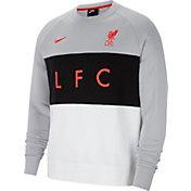 Nike Men's Liverpool Air Max Grey Pullover Crew Hoodie