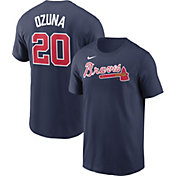 Nike Men's Atlanta Braves Marcell Ozuna #20 Navy T-Shirt