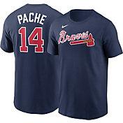 Nike Men's Atlanta Braves Cristian Pache #14 Navy T-Shirt