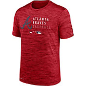 Nike Men's Atlanta Braves Red Authentic Collection Velocity Practice T-Shirt