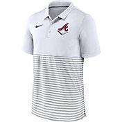 Nike Men's Atlanta Braves Stripe Navy Polo