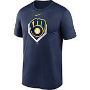 Nike Men's Milwaukee Brewers Navy Icon T-Shirt